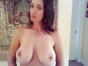Stunning Naked Russian MILF with Huge Boobs on Camera