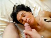 Husband Massive Ejaculation on Wifes Face